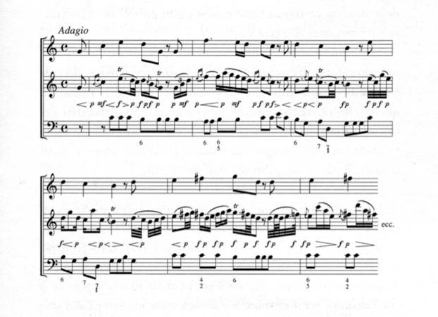 Stile galante - Tavola posizioni flauto traverso ...
